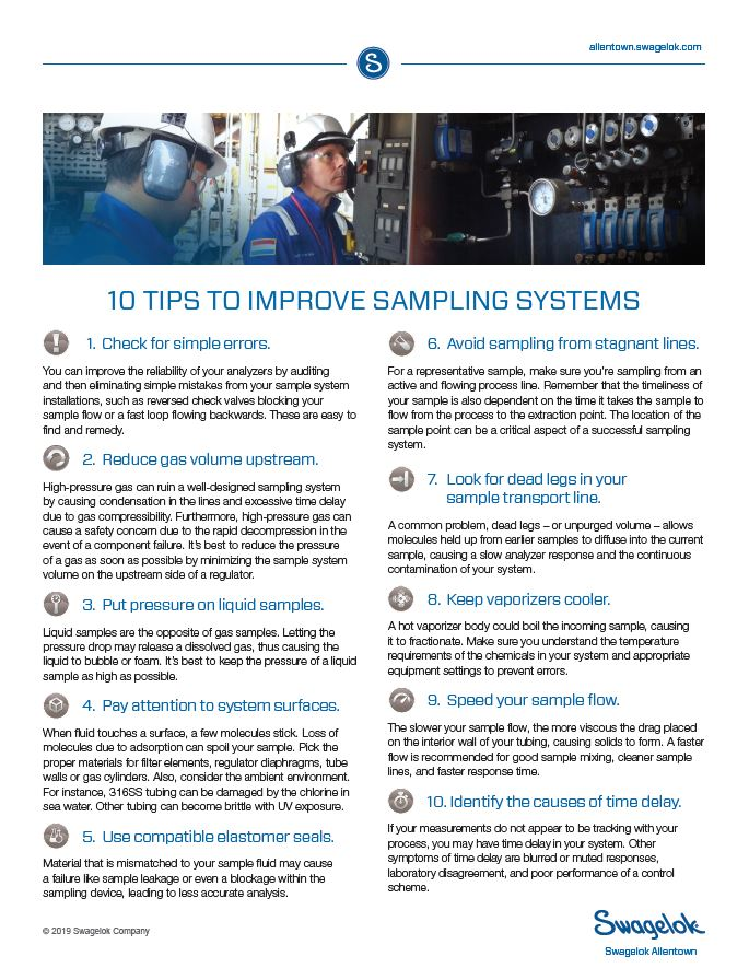 10 Tips to Improve Sampling Systems